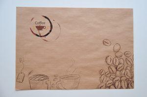 podkladki na tacki do kawiarni na papierze z recyklingu