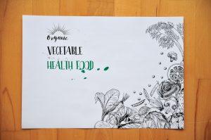 podkladka drukowana do restauracji wegetarianskiej