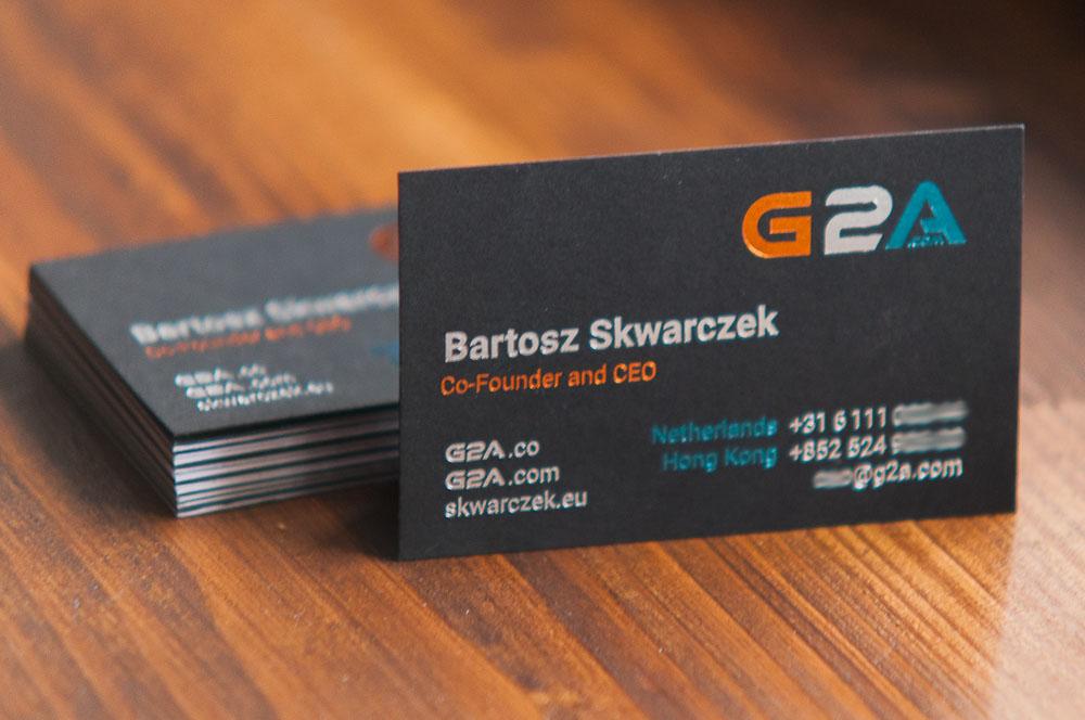 wizytówki hot stamping trzy kolory